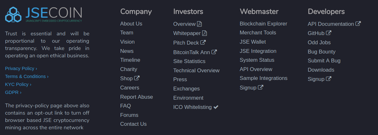 JSECOIN SYSTEM STATUS PAGE LINK