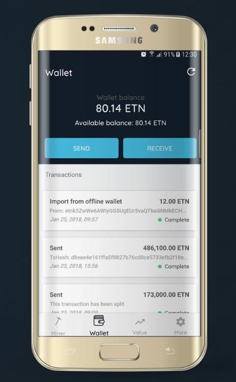 electroneum wallet samsung example