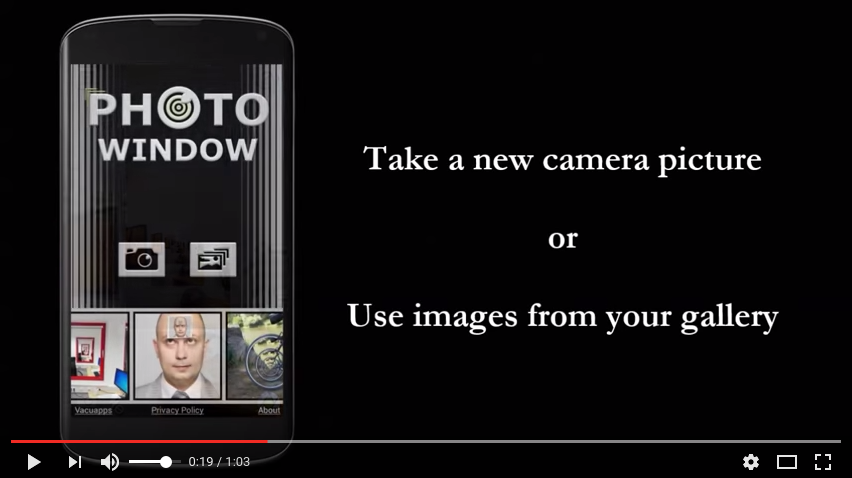Photo Window you tube tutorial