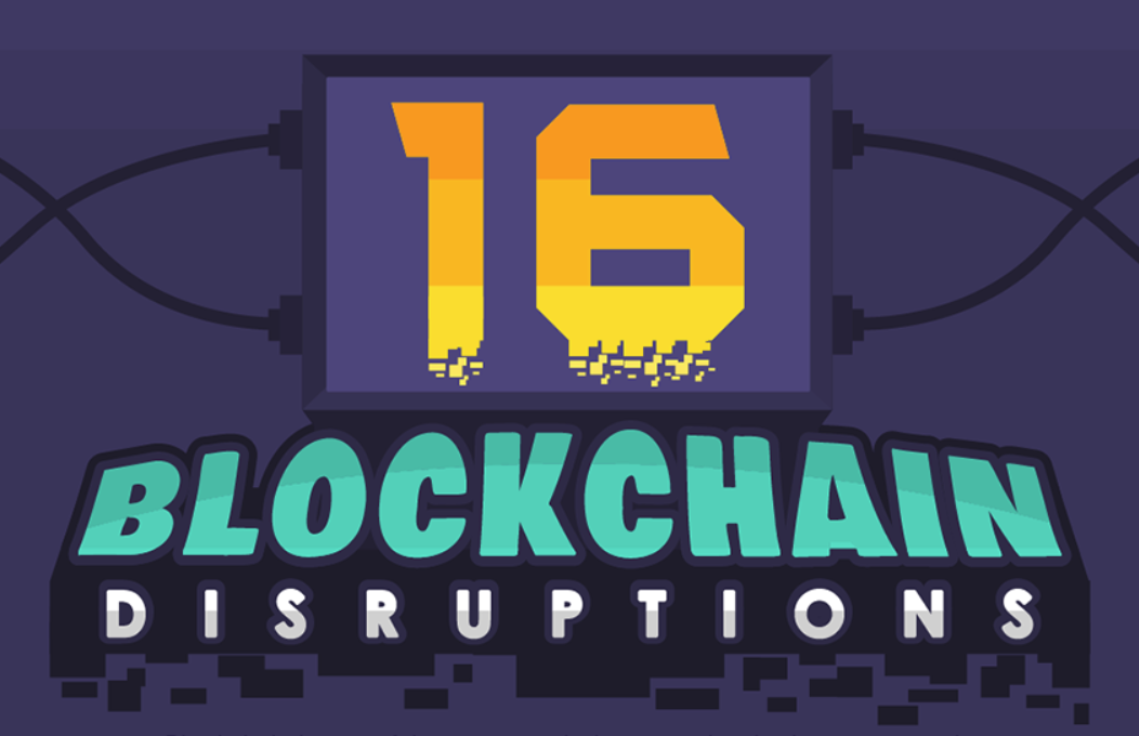 BLOCKCHAIN DISRUPTIONS INFOGRAPHIC  LINK